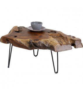 Stolik kawowy Aspen 100 cm z drewna naturalnego teak