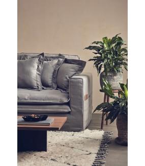 Sofa MEIKE 225 cm szara do salonu