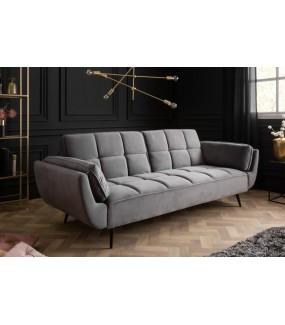 Sofa rozkładana Acolchado 215 cm szara.