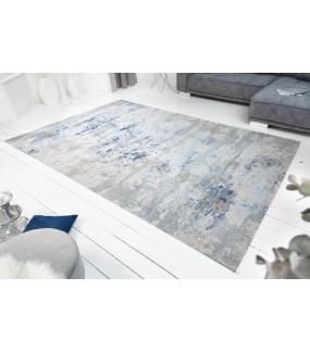 Dywan Cabernet Sauvignon 350 cm x 240 cm szaro niebieski w tylu vintage do salonu czy też sypialni.