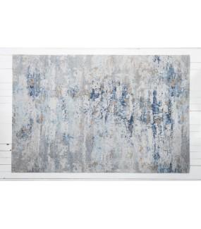 Dywan abstrakcyjny 350 cm x 240 cm szaro niebieski.