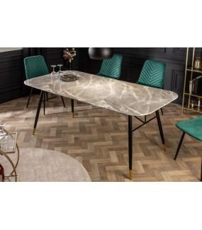 Stół CATANIA 180 cm szkło w optyce szarego marmuru