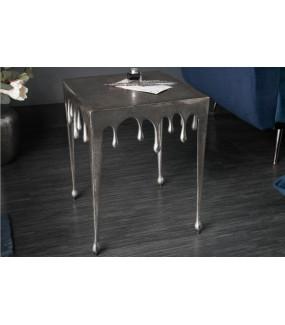 Stolik kawowy 44 cm Mystic Liquid Line srebrny