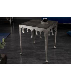 Stolik Kawowy 50 cm Mystic Liquid Line Srebrny