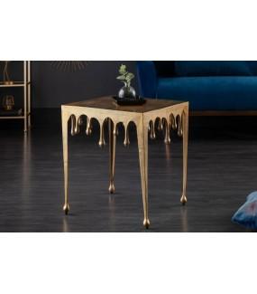 Stolik Kawowy 50 Cm Mystic Liquid Lin Złoty