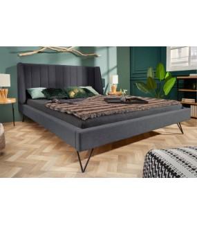 Łóżko LAMOUND 180 x 200 cm antracytowe do sypialni