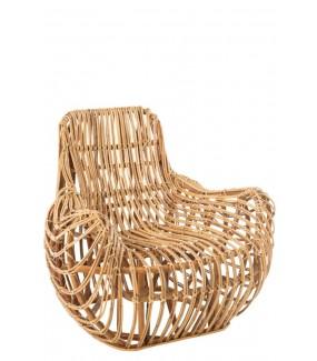 Fotel Rattan Naturalne do salonu lub na taras