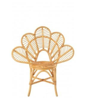 Fotel FLOWER rattanowy naturalny
