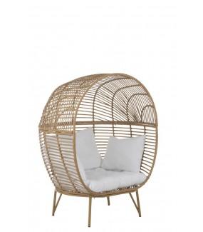 Fotel Elipsa Naturalny rattanowy do salonu lub na taras w stylu boho