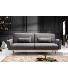 Trzyosobowa sofa Puella Mystic 210 cm szara do salonu