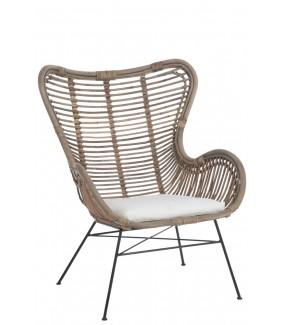 Krzesło Rayas rattanowe  do salonu, na taras, do oranżerii