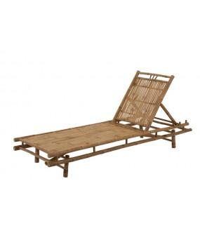Fotel, leżak rattanowy Deckchair 3 pozycje naturalny w stylu boho do ogrodu i na taras