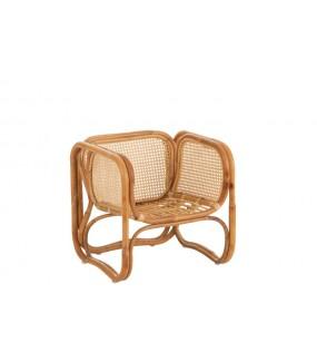 Krzesło dziecięce K2 rattanowe w naturalnym kolorze w stylu skandynawskim, boho, eko, do pokoju dziecięcego, salonu, kuchni