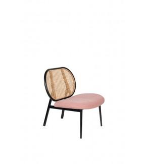 Nowoczesny fotel SPIKE różowy do salonu lub jadalni