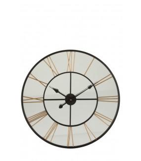 Zegar Tik... Tok.. czarno - złoty metalowy