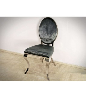 Krzesło Modern Barock Vienna grafitowe