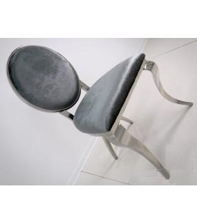 Krzesło Modern Barock Vienna grafitowe do salonu