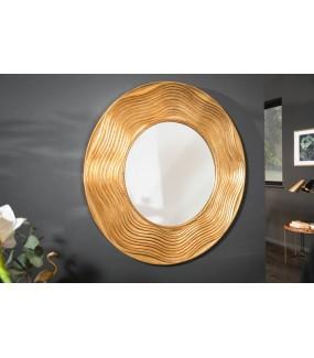 Lustro wiszące 100 cm okrągłe w kolorze złotym