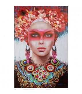 Obraz  Touched Red Eye Lady 90 cm x 140 cm