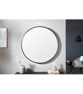 Lustro ścienne Noemi 60cm okrągłe czarne w stylu industrialnym do salonu, łazienki, przedpokoju