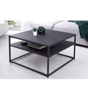 Stolik kawowy DOS UNO 70 cm czarny do salonu, pokoju dziennego w stylu industrialnym