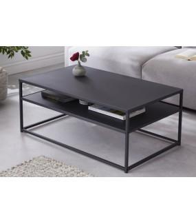 Stolik kawowy prostokątny DOS UNO 100 cm czarny metalowy do salonu, pokoju młodzieżowego, pokoju dziennego