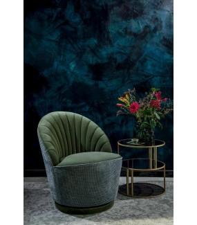 Fotel MADISON oliwkowy do salonu, sypialni, pokoju dziennego w stylu retro, vintage