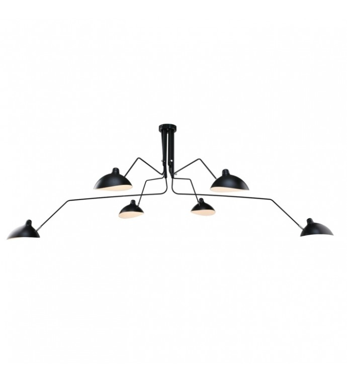Lampa wisząca RAVEN 6 czarna