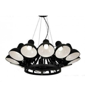 Lampa wisząca RAGNO 12 czarna