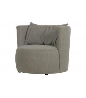 Fotel EXPLORE BOUCLE szary do salonu, sypialni, pokoju dziennego w stylu nowoczesnym, retro, boho, vintage