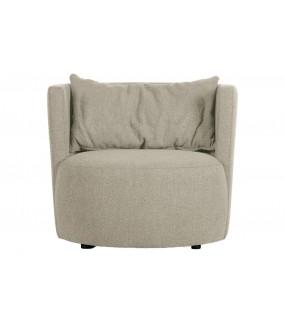 Fotel EXPLORE BOUCLÉ szary do salonu, sypialni, pokoju dziennego w stylu nowoczesnym, retro, boho, vintage