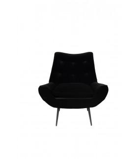 Fotel GLODIS czarny w stylu vintage, retro, boho do salonu, jadalni, pokoju dziennego