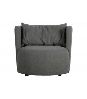 Fotel EXPLORE BOUCLÉ stalowa szarość do salonu, sypialni, pokoju dziennego w stylu nowoczesnym, retro, boho, vintage