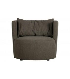 Fotel EXPLORE BOUCLE brązowy do salonu, sypialni, pokoju dziennego w stylu nowoczesnym, retro, boho, vintage