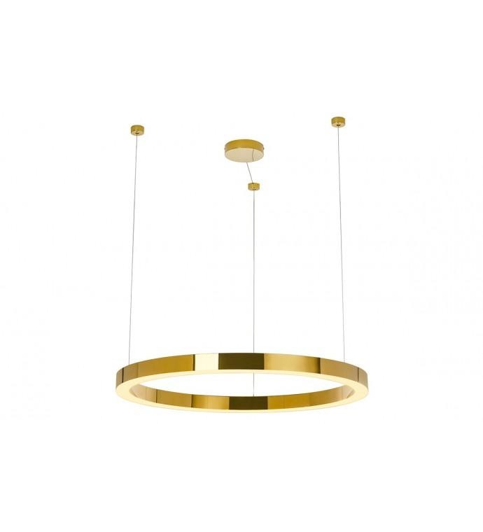 Lampa wisząca RING LUXURY 90 cm złota do salonu w stylu Glamour