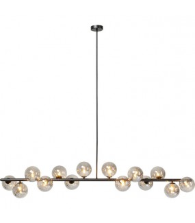 Lampa wisząca Scala Balls Czarna 150 cm do jadalni, salonu, przedpokoju, pokoju dziennego