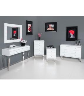 Komoda Glamour 100 cm biała do salonu