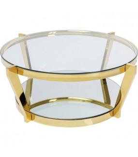 Stolik kawowy Stolik kawowy MONOCOLO złoty do salonu, pokoju dziennego w stylu nowoczesnym retro