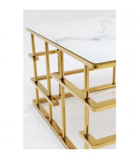 Stolik kawowy ROME GOLD 130 cm x 70 cm  w stylu glamour, nowoczesnym, industrialnym, do salonu, pokoju dziennego