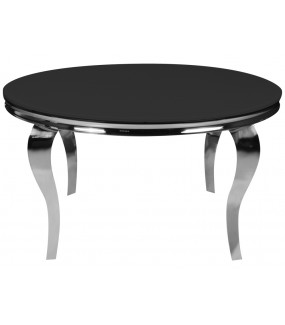 Stół barokowy 120 cm czarno srebrny