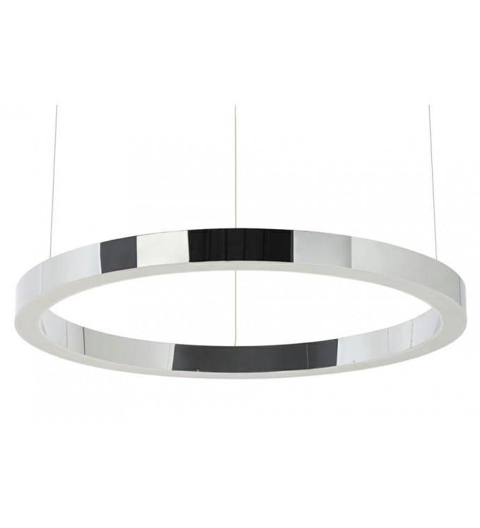 Lampa wisząca RING 80 cm srebrna
