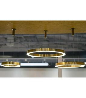 Lampa wisząca RING 60 cm złota do salonu w stylu glamour