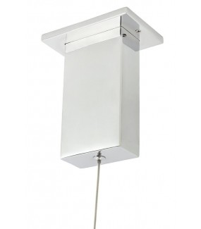 Lampa w kolorze srebrnym do salonu