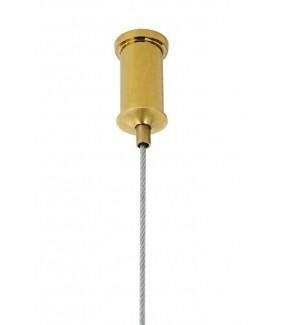 Nowoczesna lampa RING złota w stylu glamour