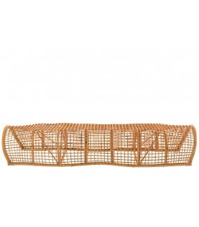 Ławka CRAWL rattanowa 200 cm naturalny do pokoju dziennego w stylu eko. Idealna do urządzonego w stylu boho pokoju dziecięcego.