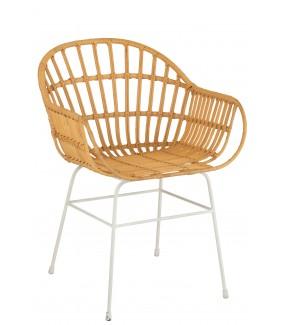 Krzesło Keni rattanowe do salonu, pokoju dziennego jadalni w stylu boho, skandynawskim, nowoczesnym, eko