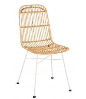 Krzesło COLLABORRAZIONE rattanowe do jadalni w stylu skandynawskim. Idealne do kuchni urządzonej w stylu boho.