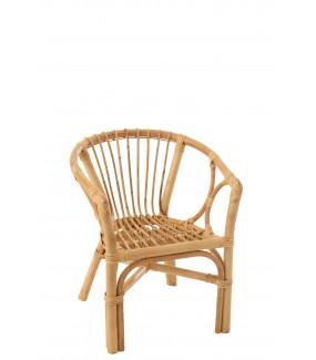 Krzesło dziecięce PETIT FILOU rattanowy naturalny do pokoju, salonu, na taras, balkon w stylu eko, boho, skandynawskim