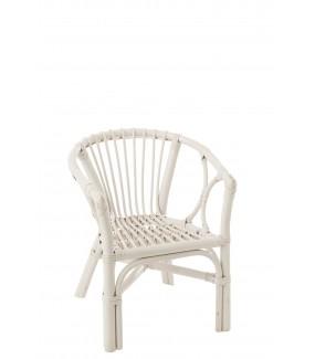 Krzesło dziecięce PETIT FILOU rattanowy biały do salonu, pokoju dziennego, pokoju dziecięcego w stylu boho, eko, skandynawskim