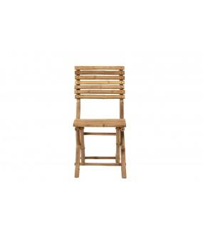 Krzesło ARE YOU READY bambusowe naturalne na taras w stylu eko. Do jadalni zaaranżowanej w stylu  skandynawskim.